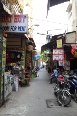 Our little alley, in Pham Ngu Lao, the tourist part of the city
