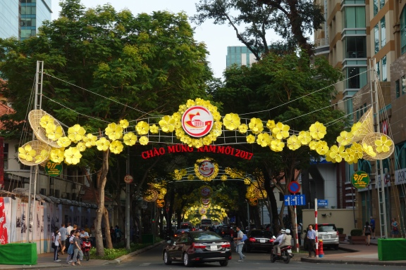 Decorations in preparation for Tet