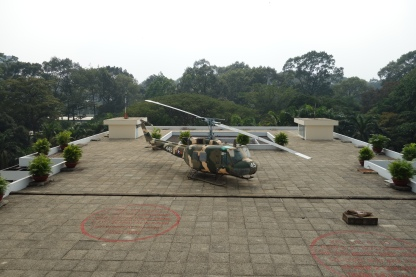 The President's helicopter (or a replica)