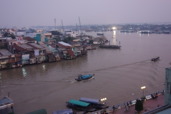 A view from our hotel to the Mekong