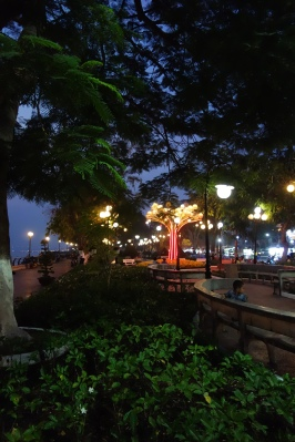 The newly constructed riverside promenade