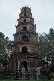 Lovely Thien Mu Pagoda, a Buddhist temple outside of Hue