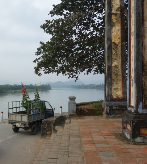 Flowers being transported in preparation for Tet
