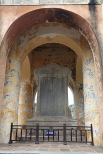 Tu Duc's tomb. This is his life story, which he wrote himself.