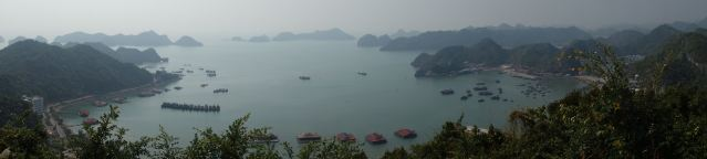 Here's more view, looking over Ha Long Bay.