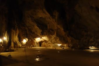 Within the hospital cave.
