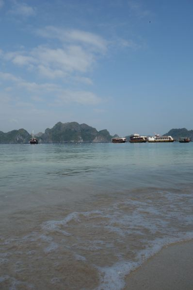 Ha Long Bay, as seen from the tourist stop Monkey Island