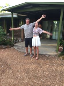 We're ok! (In front of the house in Boggabri)